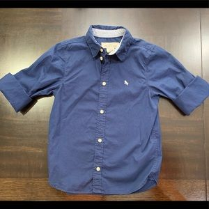 H&M Button Down Long Sleeve Shirt Size 6-7Y